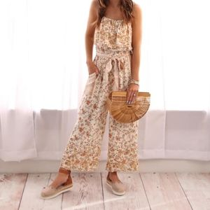 AE Floral Cropped Jumpsuit